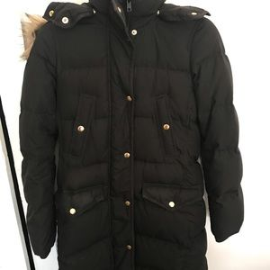 J.Crew black puffer coat